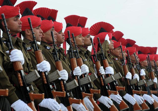 Oficiales del Ejército de la India