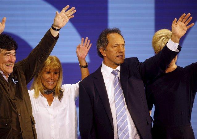 Daniel Scioli, precandidato del partido Frente para la Victoria