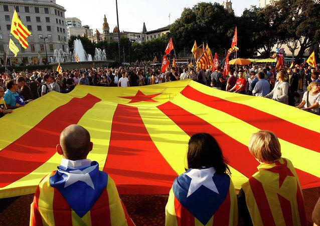 Independentistas catalanes (archivo)