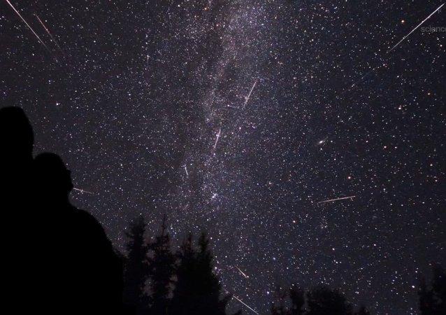 La lluvia de meteoritos