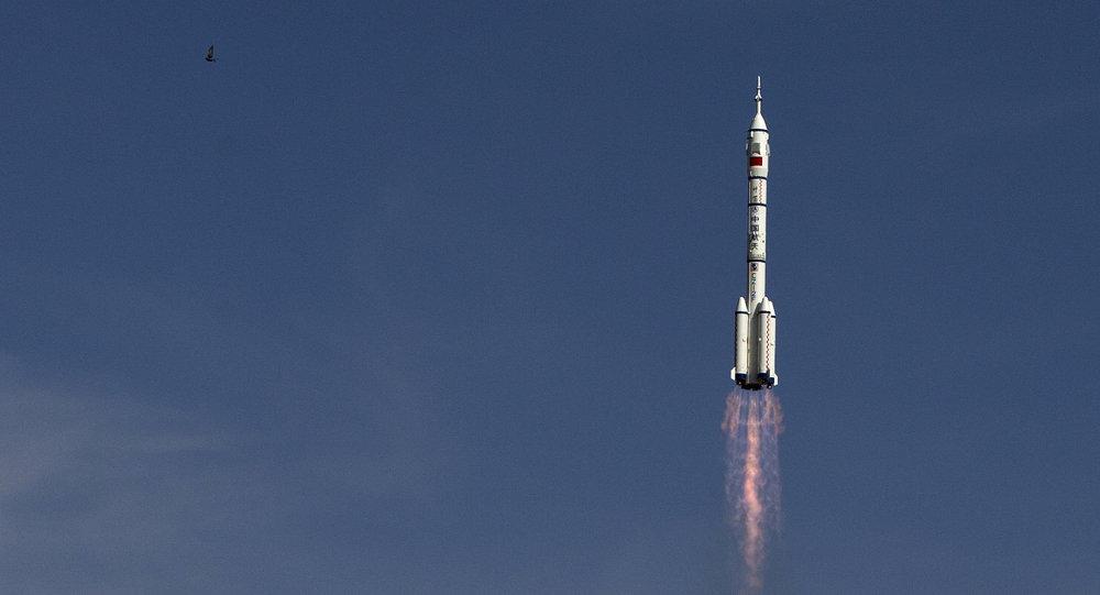 Lanzamiento de un cohete chino (archivo)
