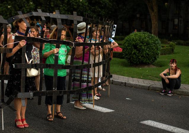 Protesta contra la ley mordaza en Madrid