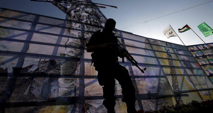 Militante del movimiento Hamás (archivo)