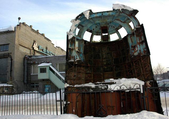Caseta del submarino Kursk en Murmansk