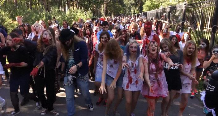San Petersburgo sufre una invasión de zombis