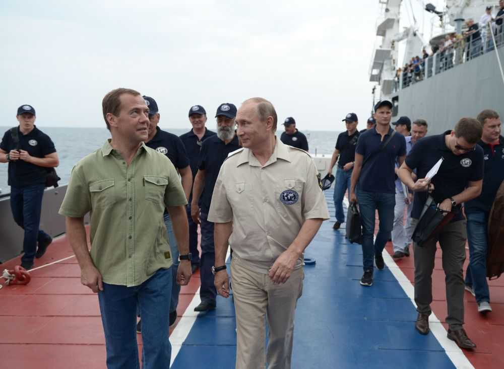 Putin se sumerge en el mar Negro