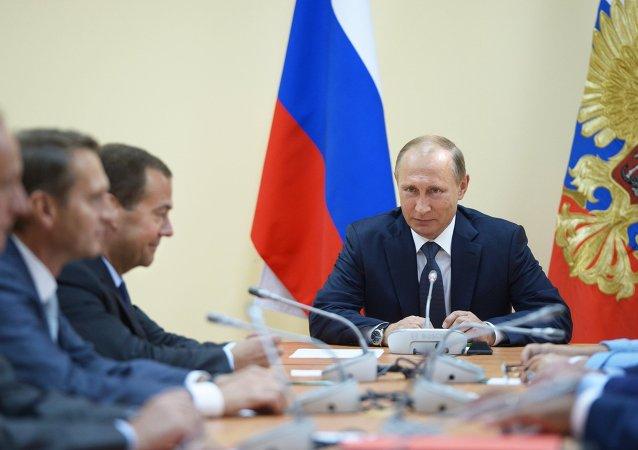 Vladímir Putin, presidente de Rusia, durante su visita a Crimea