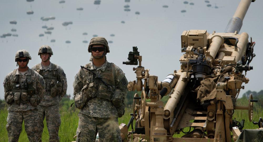 Militares estadounidenses durante las maniobras Swift Response 15