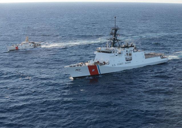 Barcos de la Guardia Costera de los EEUU