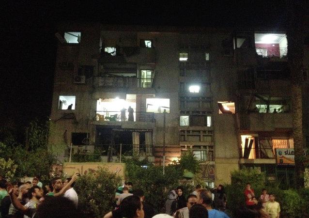 El lugar de la explosión en Cairo