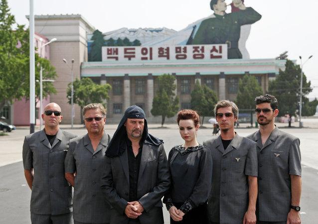 Grupo musical esloveno Laibach en Pyongyang, el 19 de agosto, 2015
