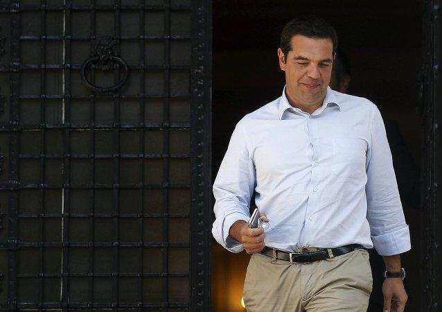 Alexis Tsipras, primer ministro de Grecia, el 20 de agosto, 2015
