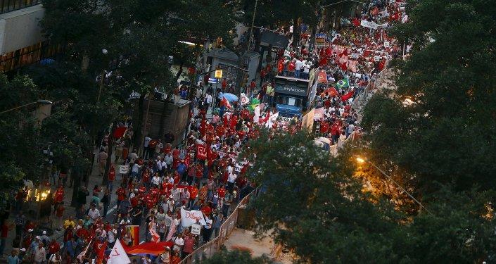 La manifestacion en Río de Janeiro