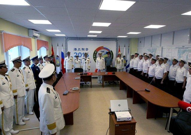 La inauguración de las maniobras ruso-chinas Cooperación Naval 2015