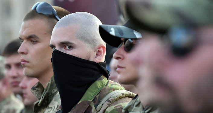 Radicales del grupo Pravy Sektor (archivo)