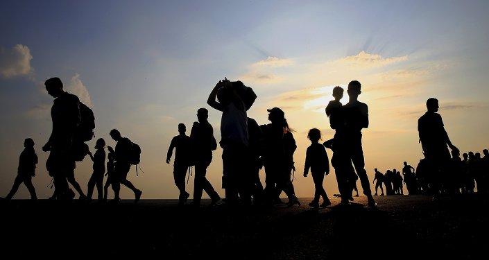 Refugiados sirios en la isla griega de Kos