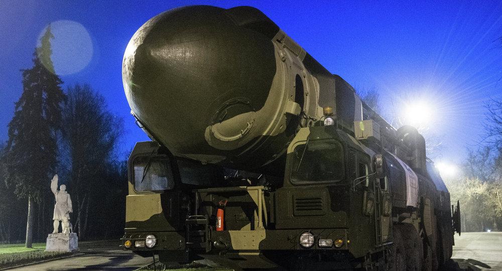 La lanzadera de misiles Tópol (Archivo)