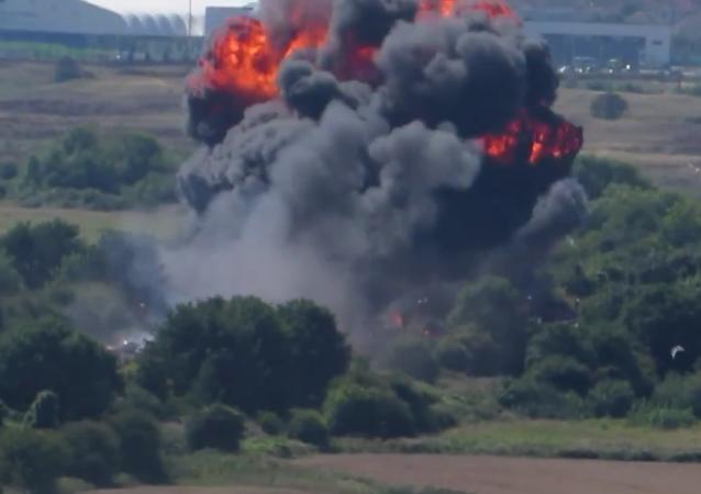 Demostración aérea en el Reino Unido acaba con siete muertos