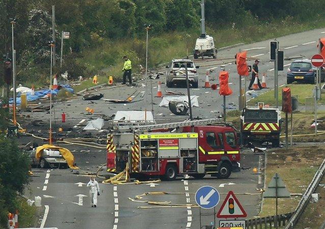 Lugar del accidente del avión Hawker Hunter