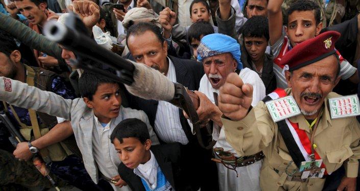 Los hutíes en Yemen (archivo)