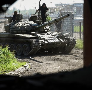 Tanques de milicianos de Donbás