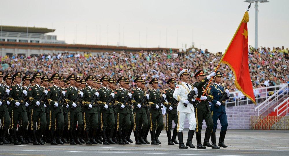 Ensayo de un desfile militar en Pekín (archivo)