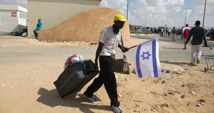 Un migrante africano (archivo)