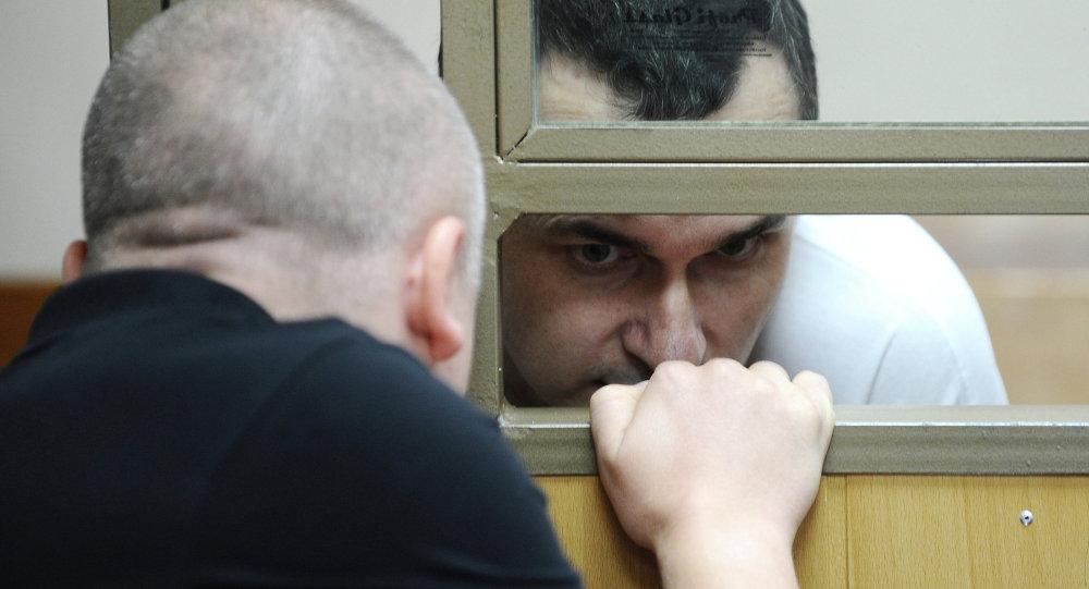 Director ucraniano Oleg Sentsov (dcha.)