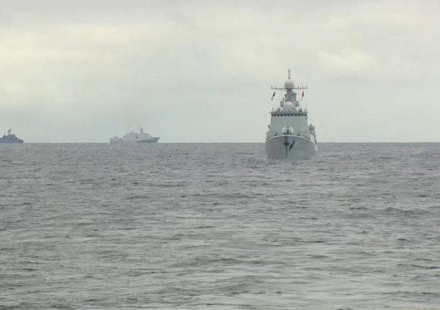 Ejercicios ruso-chinos en el mar del Japón