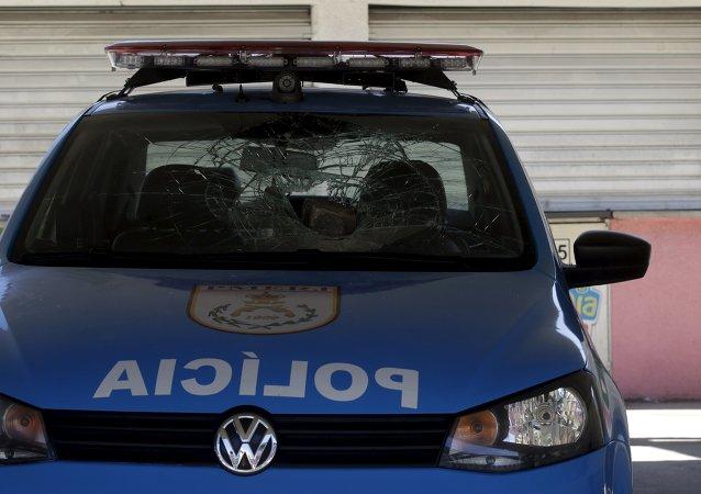 Un policía en Río de Janeiro