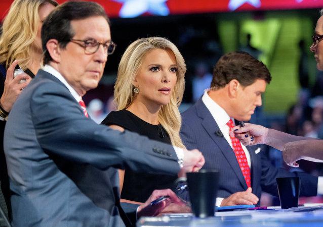 Megyn Kelly durante el debate presidencial del 6 de agosto