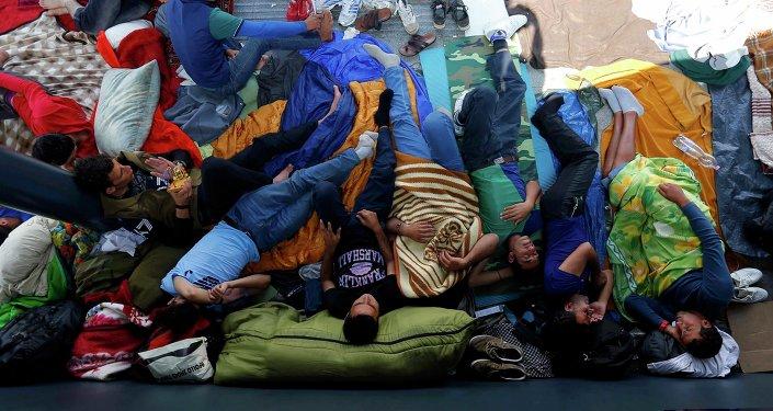 Refugiados en Budapest