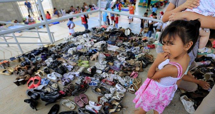 Una niña refugiada de Colombia