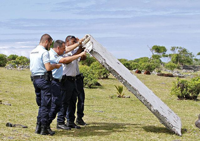 Fragmento del avión del vuelo MH370