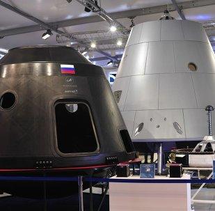Maquetas de la nueva nave espacial rusa