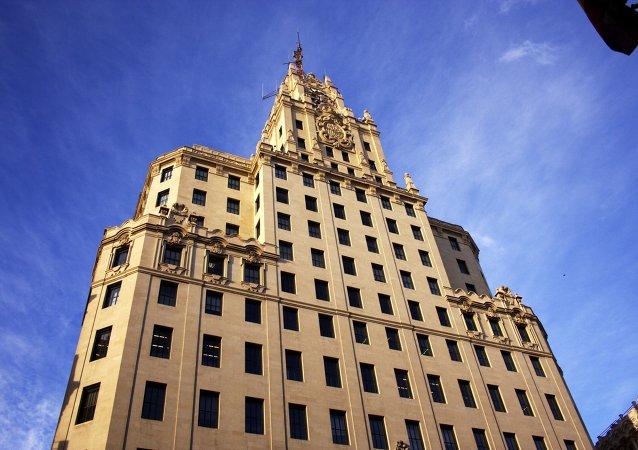 Edificio de Telefónica en la Gran Vía en Madrid
