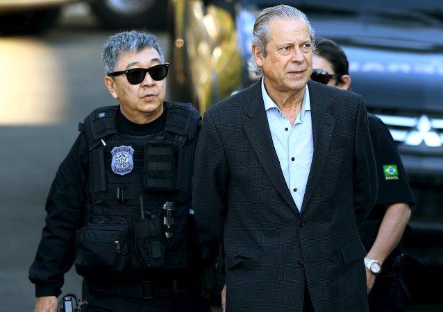José Dirceu, ex jefe del Gabinete Civil de la Presidencia de la República de Brasil, el 31 de agosto, 2015