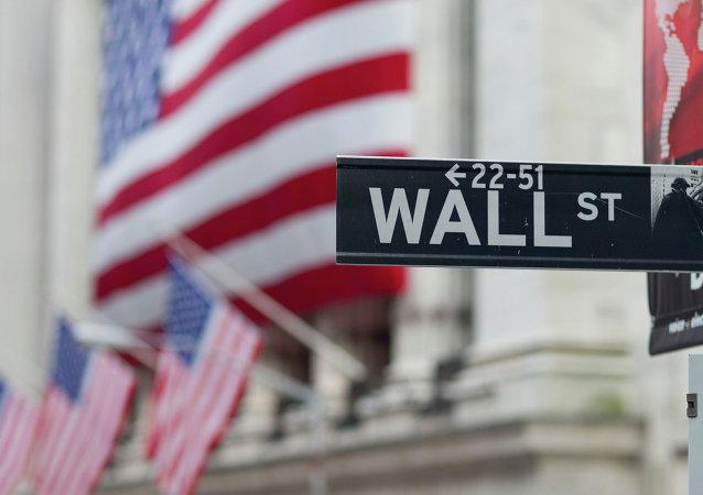 Un letrero de Wall Street en Nueva York