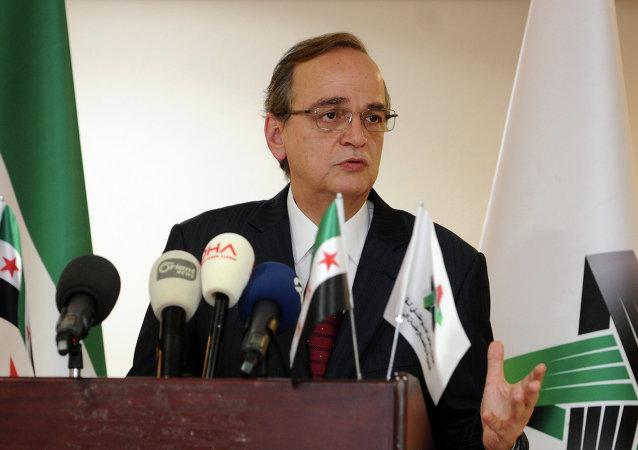 Hadi Al-Bahra, líder de la Coalición Nacional Siria