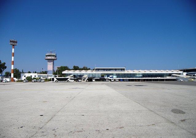 El aeropuerto de Corfú
