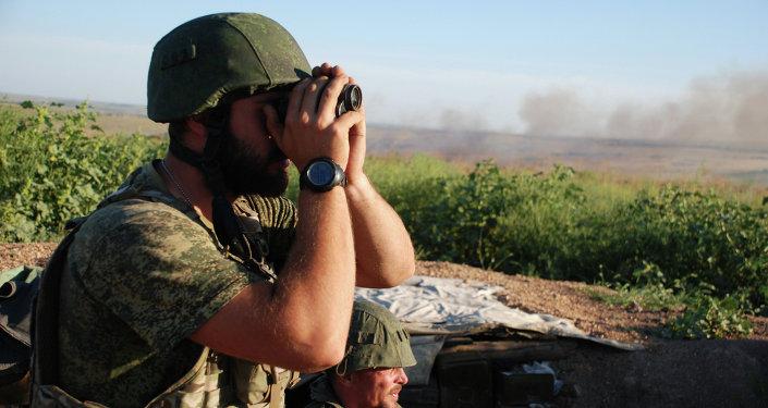 Milicianos de la RPD en la región de Donetsk