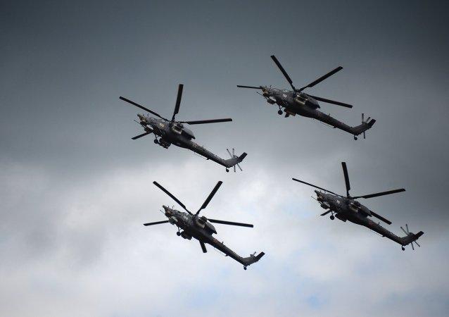 Helicópteros Mi-28N Cazador Nocturno (archivo)