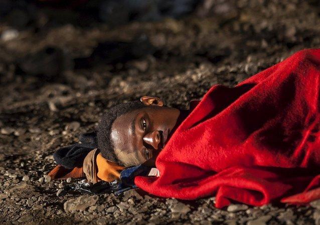 Refugiado africano (Archivo)