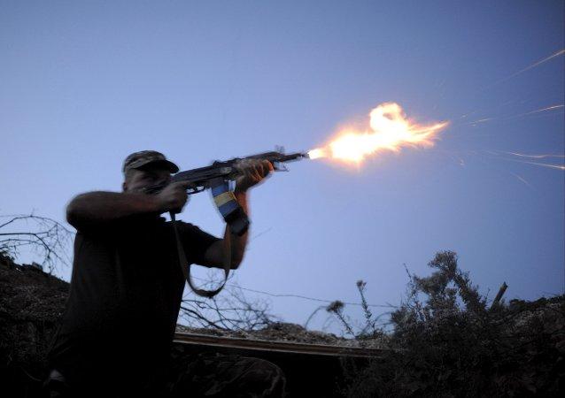 Un soldado de las fuerzas armadas de Ucrania en Avdiivka, región de Donetsk