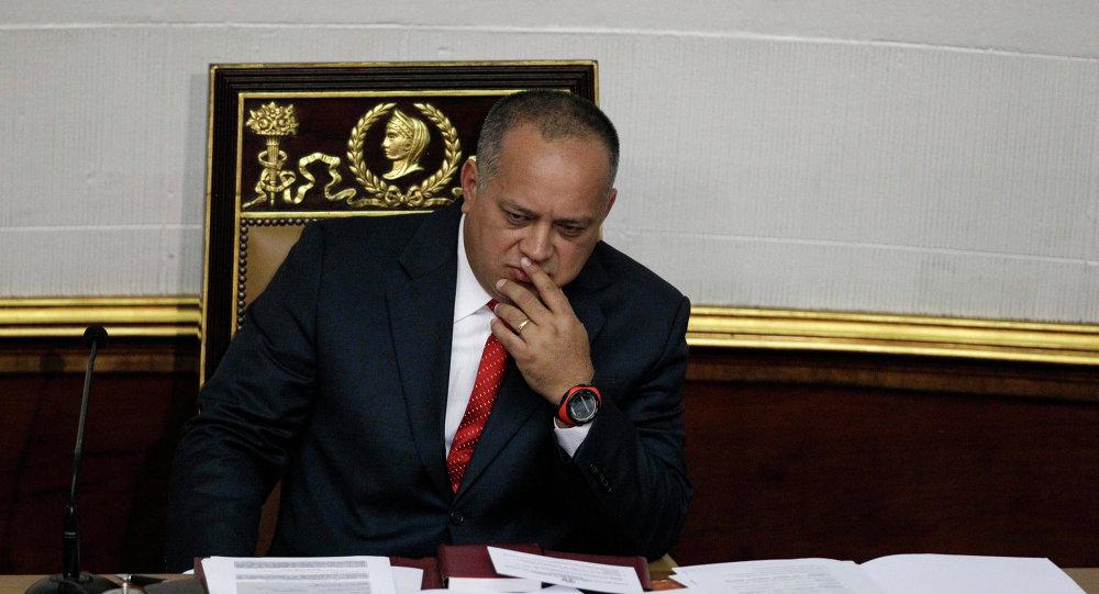 El titular de la Asamblea Nacional (Parlamento) de Venezuela, Diosdado Cabello (archivo)