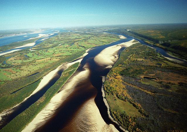Río Lena, en la región de Yakutia