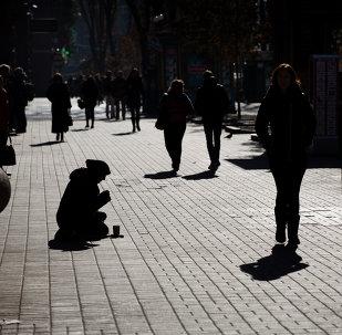 Una mendiga en Kiev (archivo)
