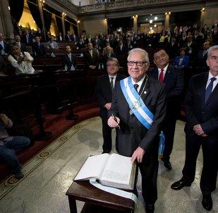 El nuevo presidente de Guatemala, Alejandro Maldonado