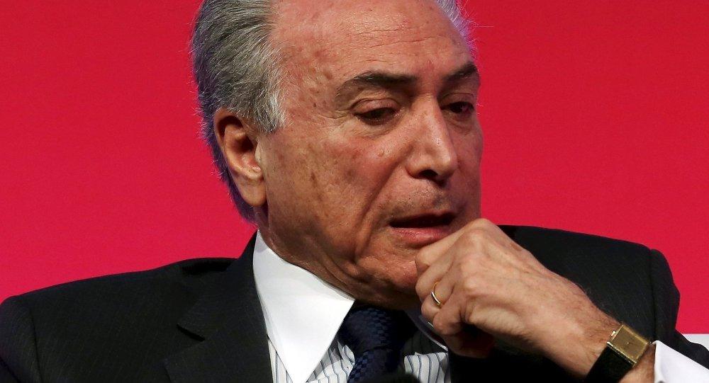 Michel Temer, vicepresidente brasileño