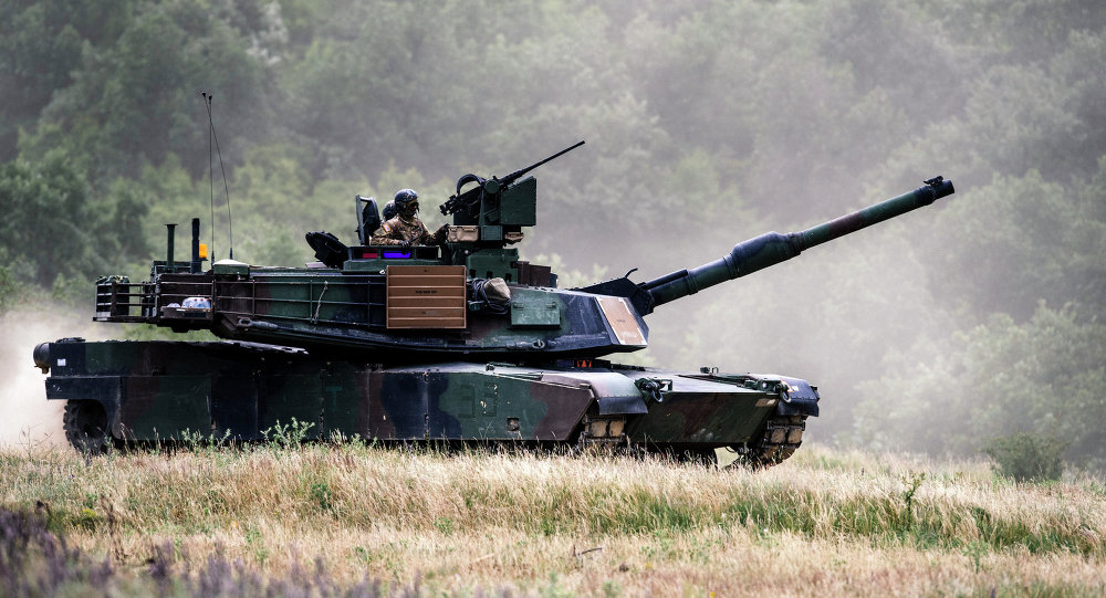 El tanque estadounidense Abrams M1A2